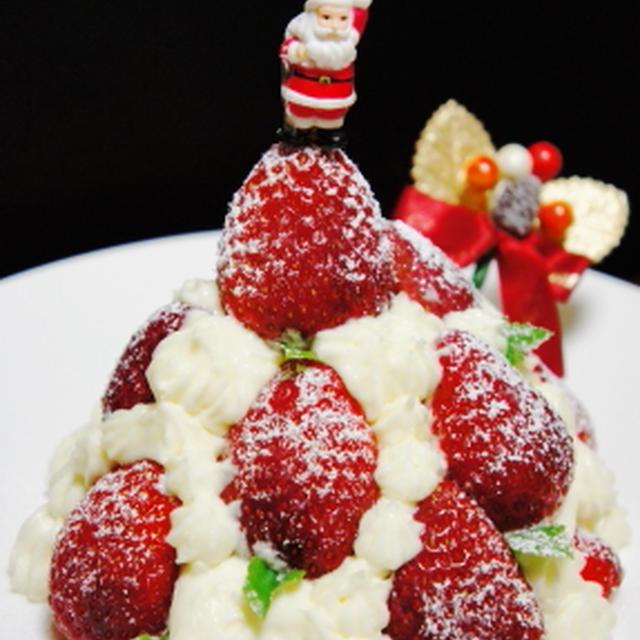 糖質制限ダイエット★Quick Xmas-cake ★ストロベリー・ツリー・ティラミス ★ クリスマス