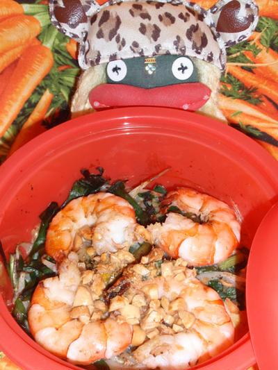 タイ風春雨オムレツ&コンニャクのチリソース添え(お家カフェ)