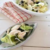 キャベツとささみの温サラダ