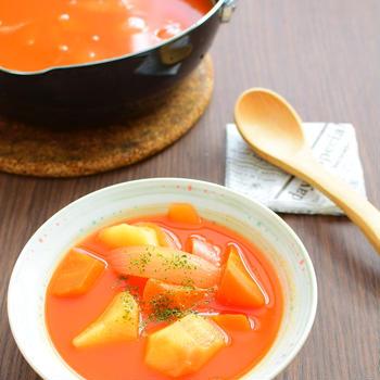 野菜オンリー!トマトジューススープのレシピ