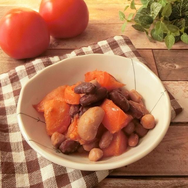 群馬県産トマトと豆のカレーバター炒め【ぐんまクッキングアンバサダー】