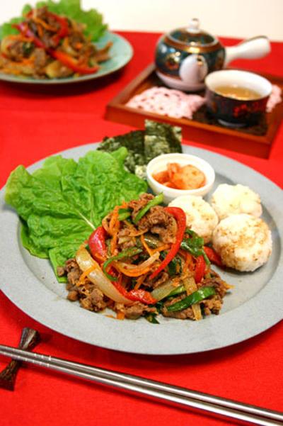 野菜たっぷり韓国焼き肉プルコギ☆