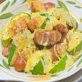 フーディストノート掲載!簡単おつまみおかず〜ズッキーニとソーセージのマヨチーズ焼き。