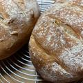 久しぶりに手ごねでくるみパン作りました。