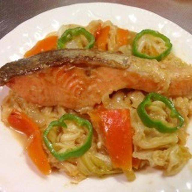 鮭のチャンチャン焼き♪&キリマリさんの人参マリネ♪