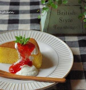 スライスチーズで!本格スフレチーズケーキ