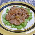 豚肉の生姜焼きでタコス