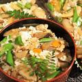 ■田舎風散らし寿司【9品目竹の子入り 後混ぜタイプの五目飯で我が家の定番で1番人気です♪】