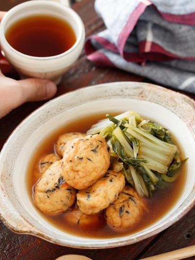 白身魚揚げと白菜の含め煮【#作り置き #簡単 #時短 #節約 #包丁不要 #レンジ #主菜】