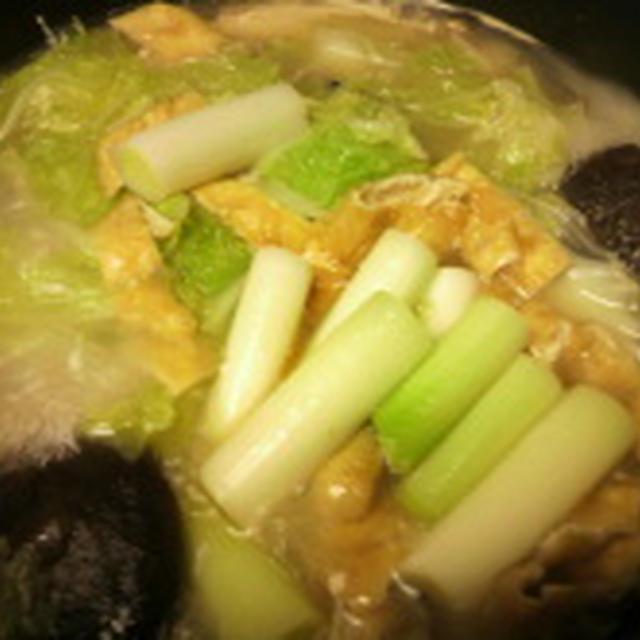 クック井上【豚しゃぶ鍋の残りスープで 本格醤油ラーメン】