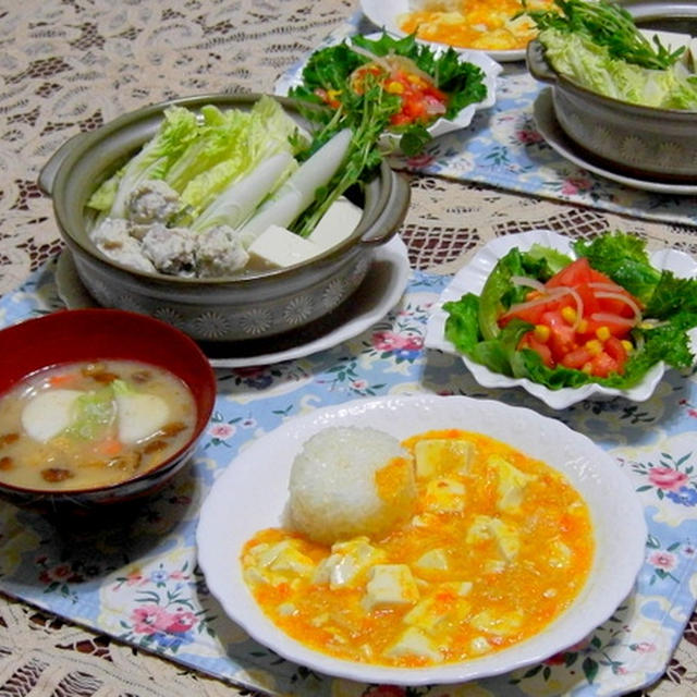 カニと豆腐の餡かけご飯