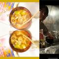 朝4時LiVECOOK..うちの満菜みそ汁肉団子とお野菜〜♪