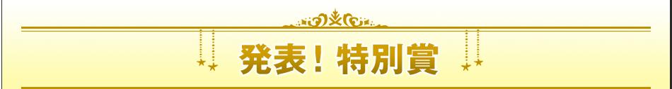 発表!特別賞